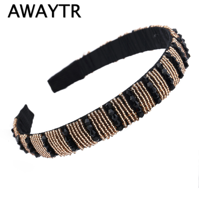 Hair Ornaments for Women Girl 2017 New Arrival Luxury Handbade Crystal Beaded Fashion Headband Hair Jewelry Accessories