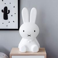 Thrisdar 50CM Rabbit Led Night Light Dimmable For Baby Kids Gift Animal Cartoon Desk Table Lamp