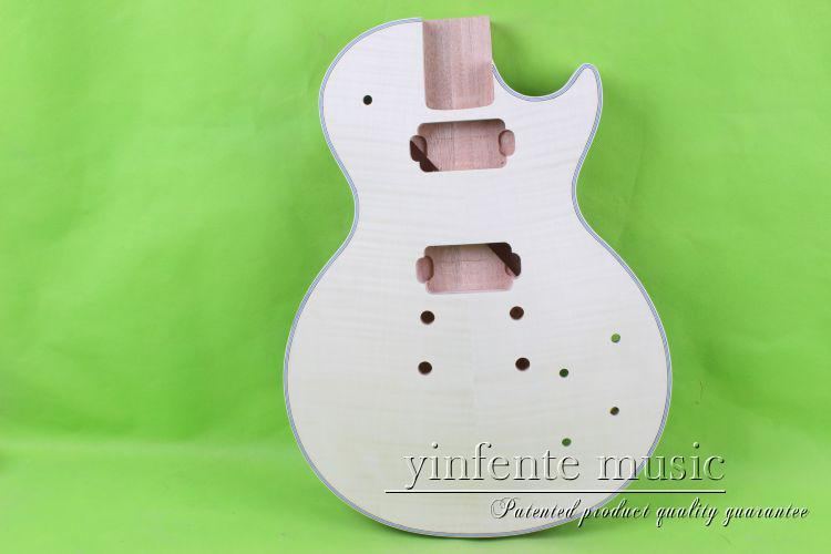 купить one 18# unfinished  electric guitar body  mahogany made and maple  top дешево