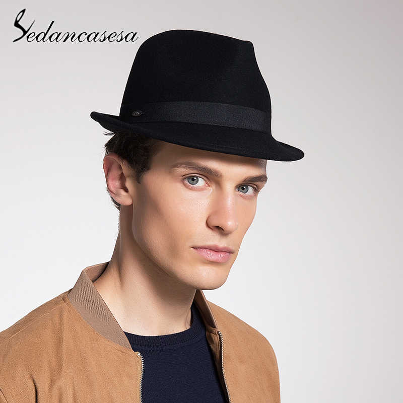 994ab0daac ... Sedancasesa New Classic Trilby Hat Male Fedora Hat with 100% Australian  Wool Men Hat for ...