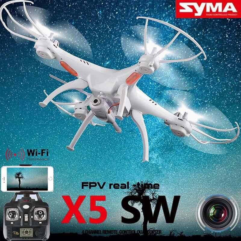 Syma x5sw 2.4g 6-axis 4ch rc quadcopter drone wifi 2.0mp cámara caja de espuma d