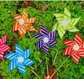 21CM hexagonal windmill colorful children's creative DIY article pvc plastic toy windmill windmill