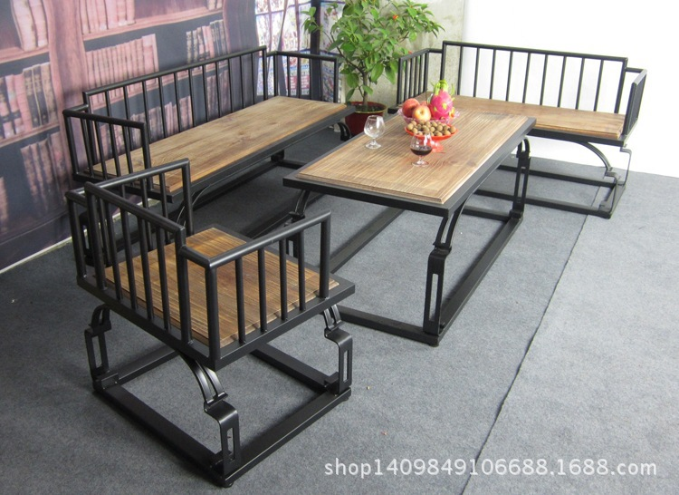 Charming American Country Wrought Iron Wood Minimalist Living Room Furniture Sofa  Set Outdoor Cafe Wholesale Leisure Facilities In Storage Holders U0026 Racks  From Home ... Part 10