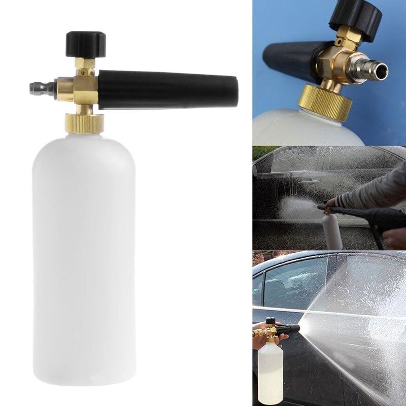1L Adjustable Snow Foam Car Wash Gun Soap Pressure Washer Bottle 12mm