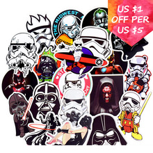 50Pcs Star Wars Stickers For Motorcycle Skateboard Snowboard Laptop Suitcase Car Accessories Mixed Anakin Skywalker