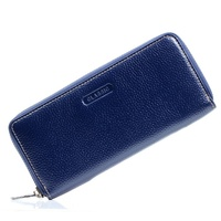 New Womens Real Genuine Leather 6 Colors Zipper Handbag Wallet Long Day Clutches Fashion Female Lady
