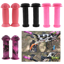 1 Pair Kids Childs Bicycle Handlebar Grip Non Slip Rubber Handle Bar Protector Covers Suitable Handle Inner Dia20mm цена