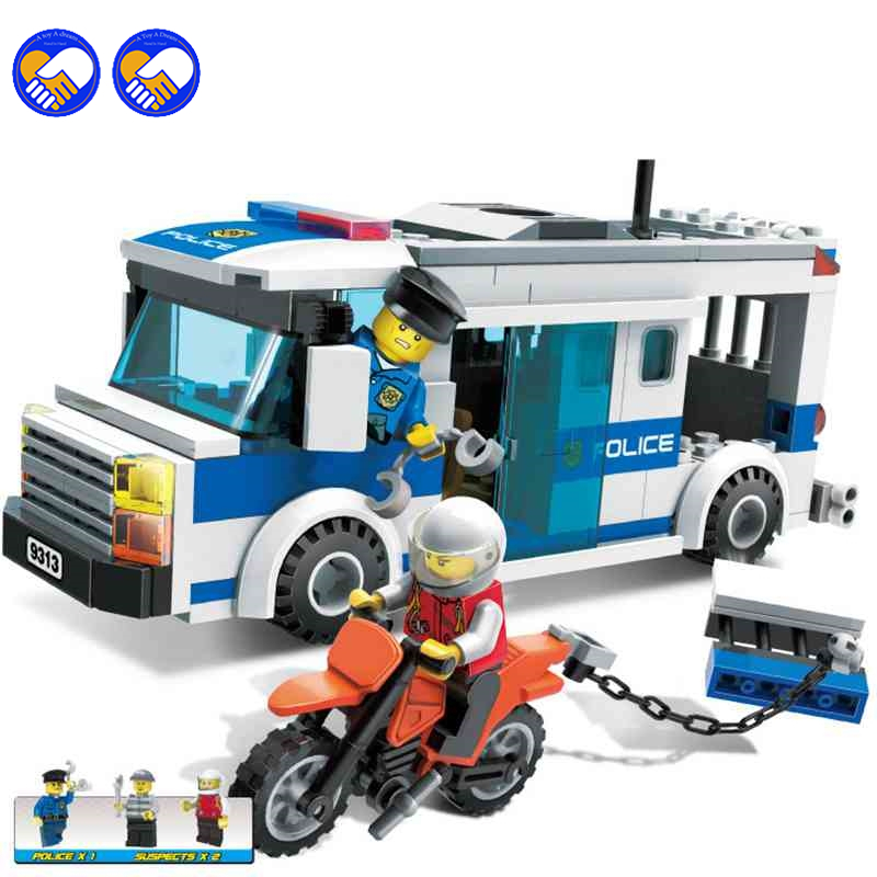 A toy A dream GUDI City Police Series Prisoners Car Building Blocks City Police Blocks Assembled Blocks Toys for Children city series police car motorcycle building blocks policeman models toys for children boy gifts compatible with legoeinglys 26014