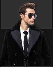 2015 Extended Edition fur Men's sheepskin coat leather leather Men's Fur Jacket Men LL403
