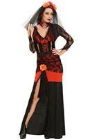 Hot Sales 2016 Sexy Adult Day Of The Dead Diva Halloween Costume S8987 Sexy Halloween Ghost