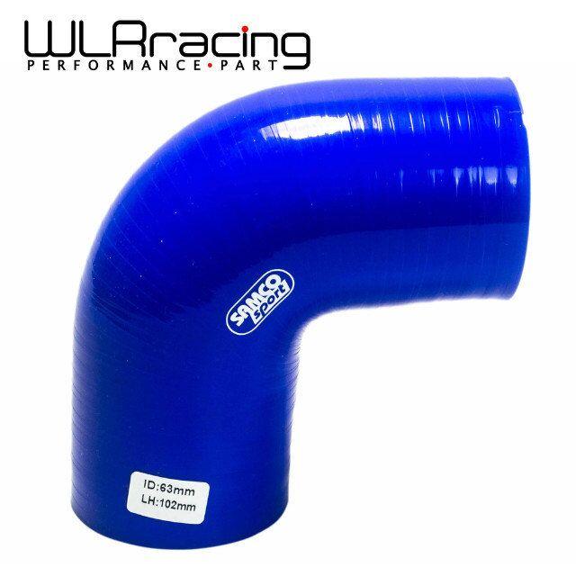 """Prix pour WLRING MAGASIN-BLUE2.5 """"63mm 90 Degrés Coude Silicone Tuyau d'arrosage Turbo Admission WLR-SH9025"""