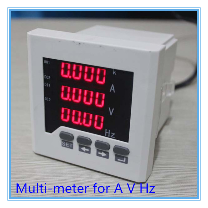 multi-function meter,digital Combined Meters single-phase,AC voltage current frequency meter LED UIF63 series multimeter