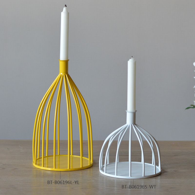Home Decor Candle Holders And Accessories: Wire Metal Candle Stand For Home Decor Modern Iron Candle