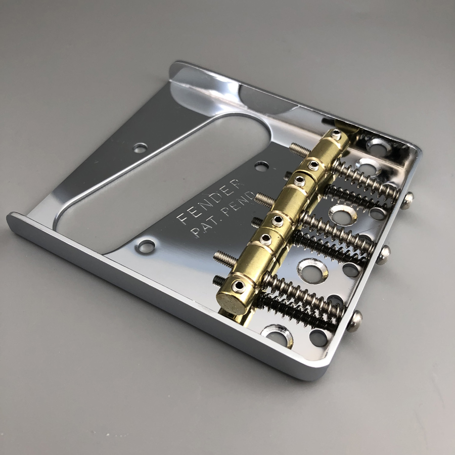 Vintage Guitar Bridge For Telecaster Guitar Brass Saddle Chrome-in Guitar Parts & Accessories from Sports & Entertainment