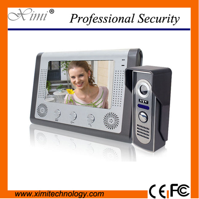 Fashionable luxury aluminum alloy IR camera with night Vision hands free intercom doorbell 7 inch color screen video door phone купить в Москве 2019