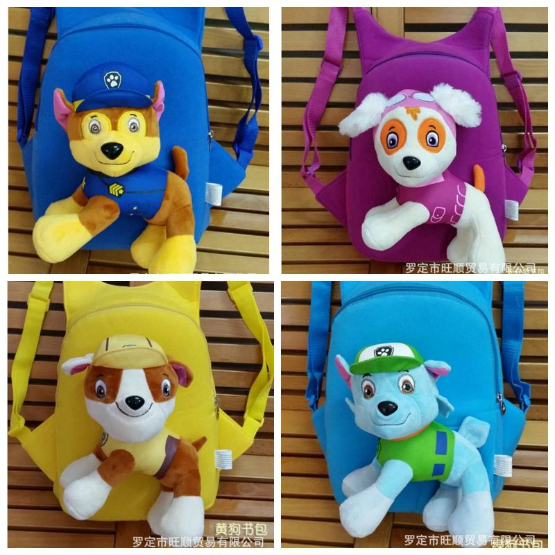 2018 action figure dog toys ryder chase 3d children bag plush Anime patrulha patrulla canina patrol puppy canine Pawed new 3 5inch patrol dog anime toys action figure moviejuguetes brinquedos cute puppy patrol toys for child gift girls children