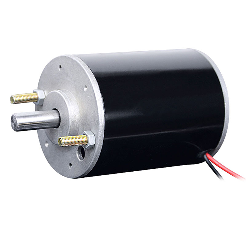 DC <font><b>220V</b></font> 120W Carbon Brush DC <font><b>Motor</b></font> Positive and Negative Double Ball Bearing <font><b>Motor</b></font> Spindle for Small Bead Machine Shaft Dia 10mm image