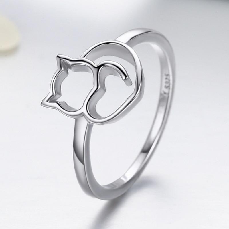 Genuine Sterling Silver Cat Rings
