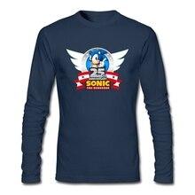 25th Sonic the Hedgehog T-shirt Mens fashion Cheap Wholesale Chao Shirts Geek Print Natural Cotton tshirt Brother array