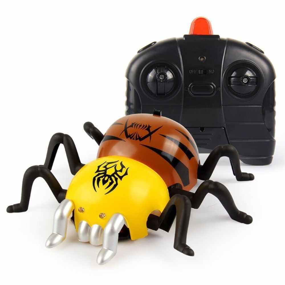 RC แมงมุมรูป Micro Wall Climbing Spider รีโมทคอนโทรลรถแข่งรถ,USB ชาร์จ
