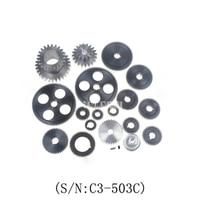 Yeni C3-503C Metal Dişliler/19 adet Metal Dişli Kiti (Metrik)/45 # Çelik Dişli Seti C3 serisi Torna Adanmış Metrik Tam Dişli Sıcak Satış