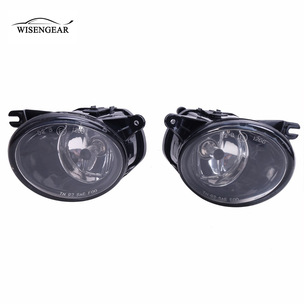 WISENGEAR Front Driving Light Fog Light Lamp For Audi A6 C5 S6 Quattro 2002-2005 Clear Len Foglight With H7 Bulb Car Accessory / pair car 55w h11 front bumper driving fog light lamp for audi a4 b6 sedan 02 05 03 04