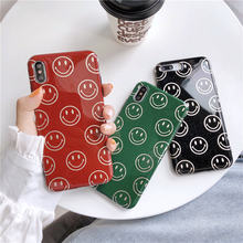 Funny Face Emoji Case For IPhone XS MAX XR Smile Letter Rubber IMD iPhone X 8 7 6 6S Plus Soft TPU Silicone Back Cover