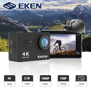 """Image 2 - Caméra daction dorigine EKEN H9R H9 Ultra HD 4K WiFi avec télécommande 2.4G 2.0 """"écran 30M étanche sport mini cam"""