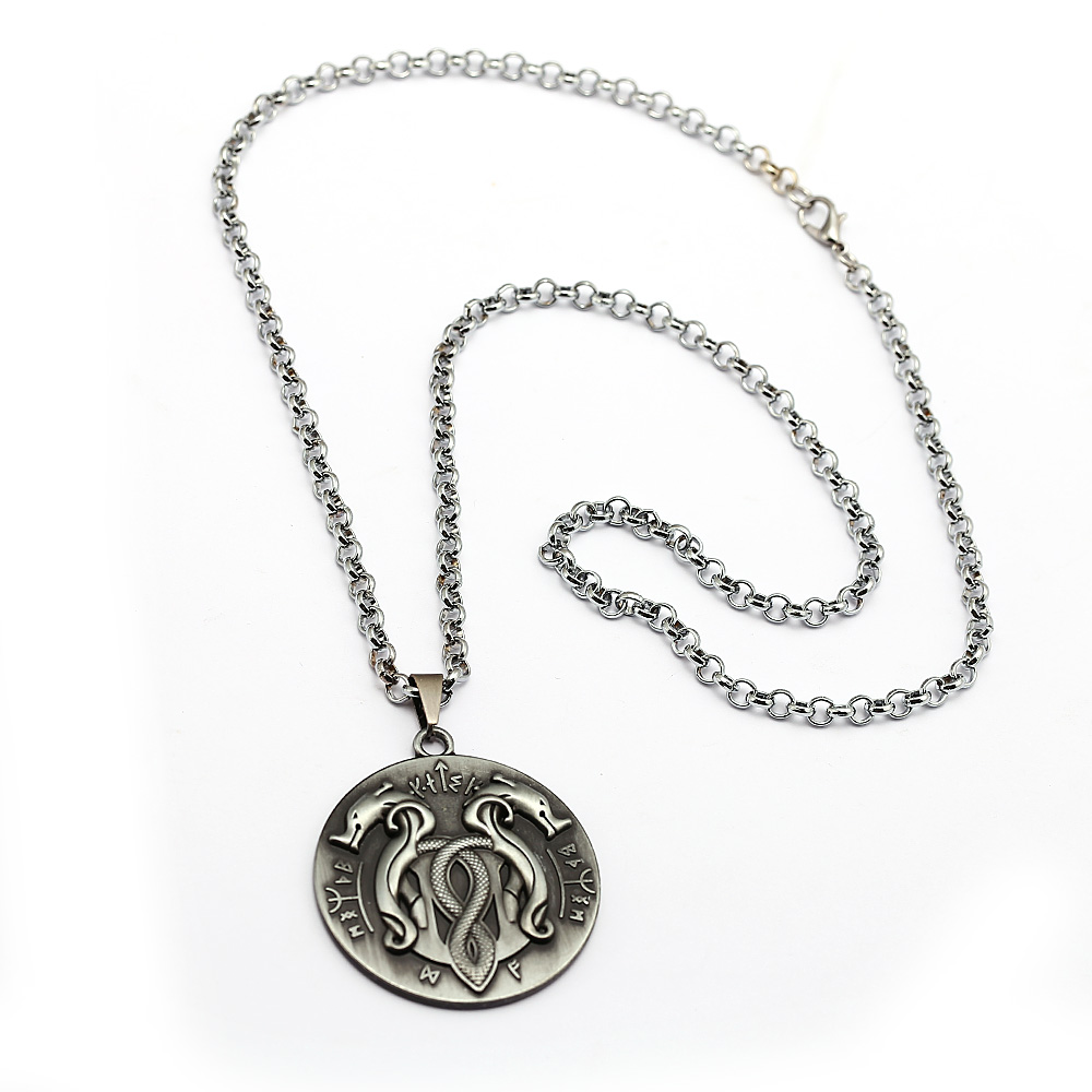 God Of War Pendant Snake Necklace Personality Game Jewelry Men Gift for Fans Birthday Jewelry
