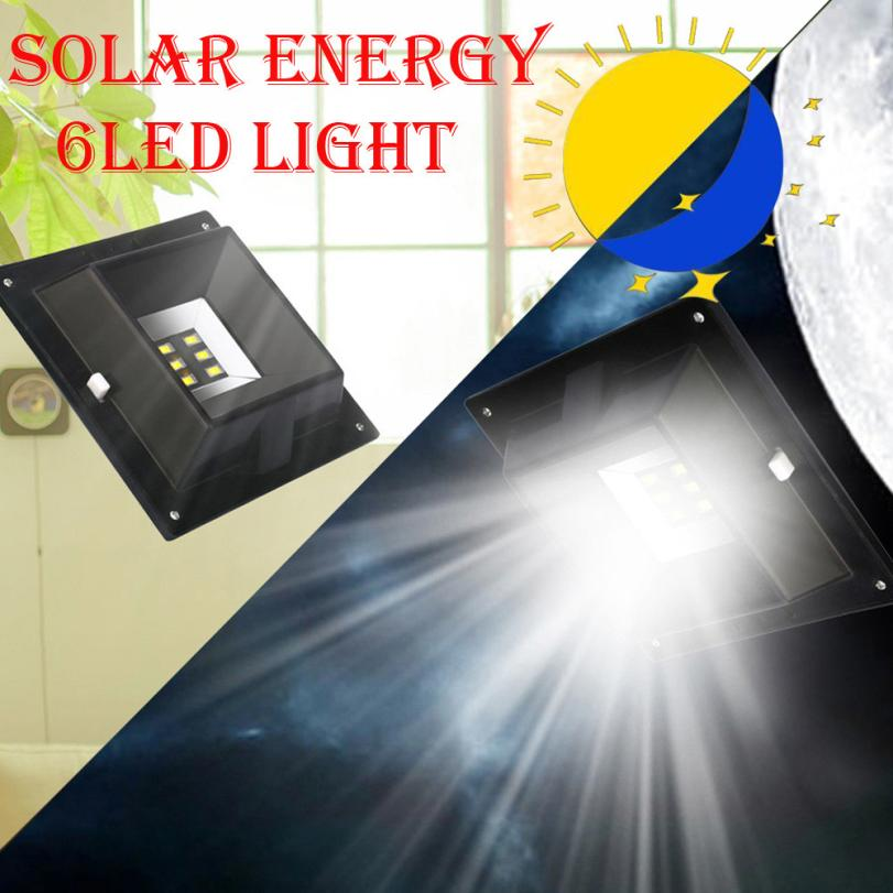 MUQGEW 6 LED Waterproof Solar Light PIR Motion Sensor Wall Lamp Outdoor Garden Security  ...