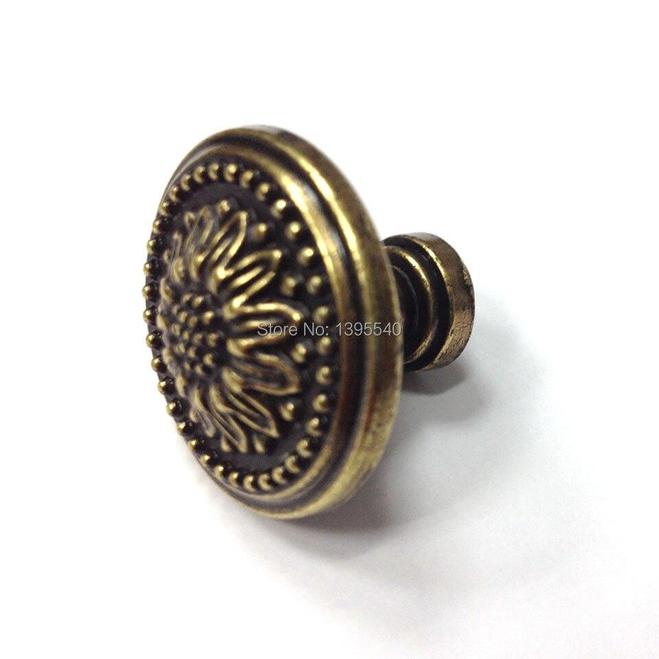 Новый 2 шт. 26 мм античная шкаф Кухня ручку ящика евро-Стиль Винтаж шкаф, дверные ручки современный Кухня Ручки Бары тянет