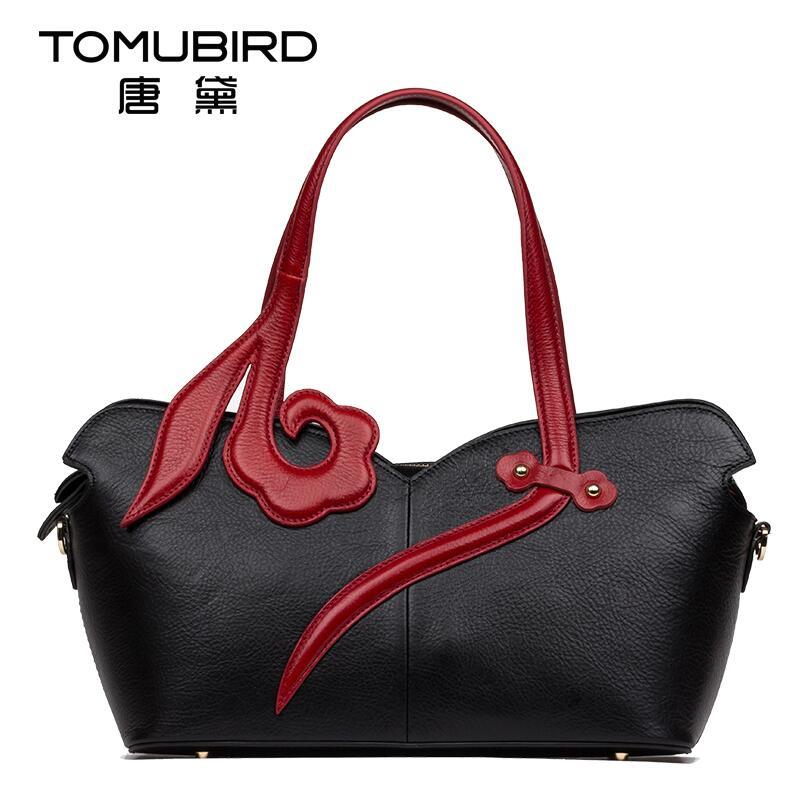 2017 New women genuine leather bag brands national wind fashion luxury top quality women leather handbags shoulder bag
