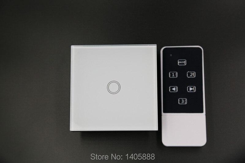 ФОТО EU 1gang smart home wireless Crystal glass panel RF433 lighting switches remote control lamps switch for broadlink/orvibocontrol