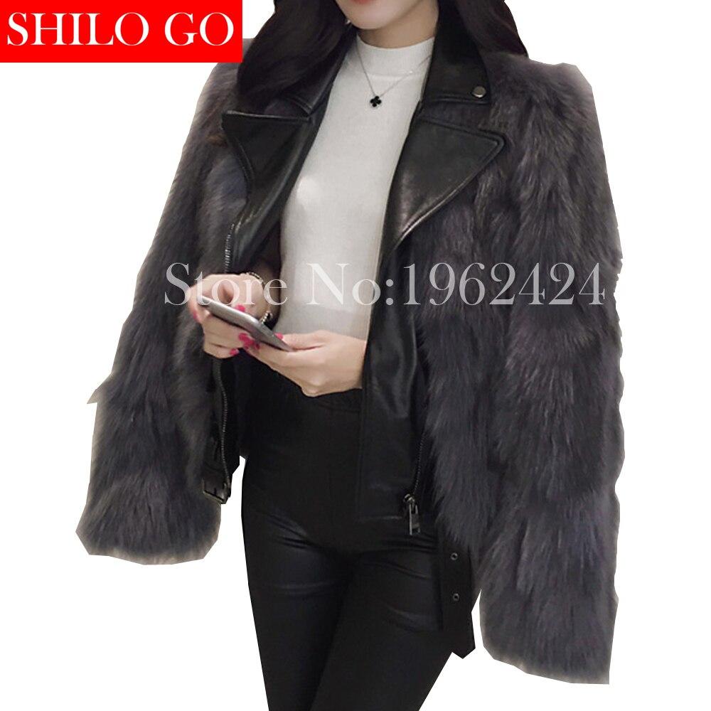 HOT Free shipping 2016 new winter fashion women high quality fox fur fake two lapel sheep
