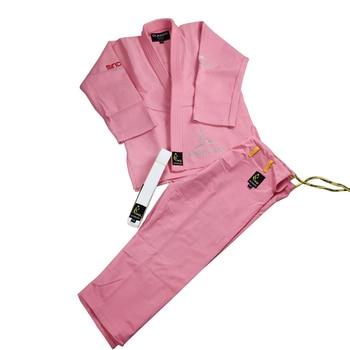 Unisex Blanco/Rosa Jiu Jitsu/BJJ uniformes Gi estándar internacional profesional traje de entrenamiento de artes marciales ropa Judogi