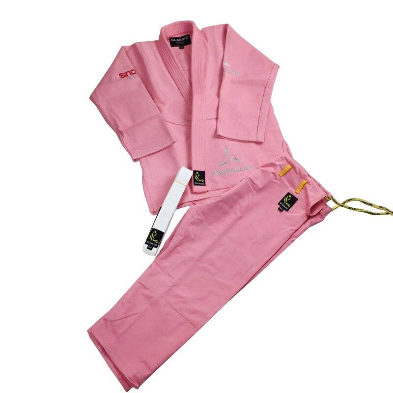 Unisex White/Pink Jiu Jitsu/BJJ Gi Uniforms International Standard Professional Training Suit Martial Arts Clothing Judogi kid s blank bjj gi children s brizilian jiu jitsu gi training bjj kimonos