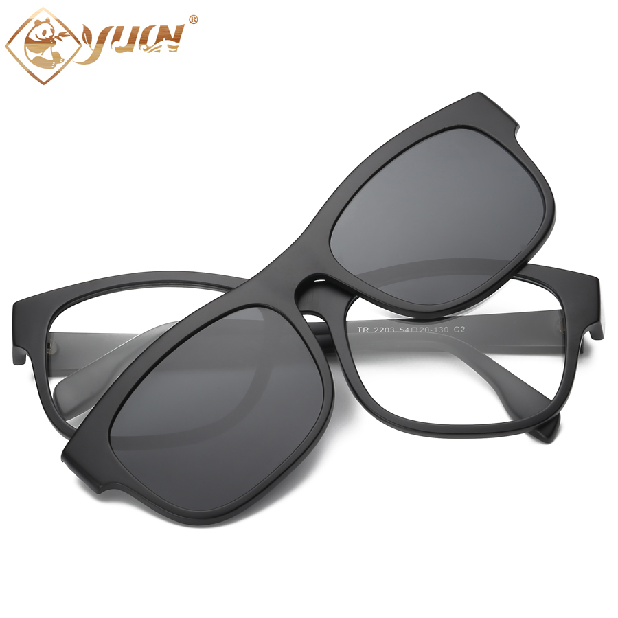 High quality TR90 fashion <font><b>sunglasses</b></font> Classic <font><b>5</b></font> sets of color matching <font><b>magnet</b></font> adsorption <font><b>clip</b></font> men women sun glasses UV400 <font><b>Lens</b></font> image