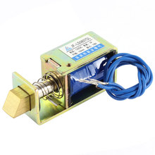цена на UXCELL Jf-Ls0837dl  12V 1A 10Mm 15N Pull Type Open Frame Electromagnet Solenoid For Door Lock