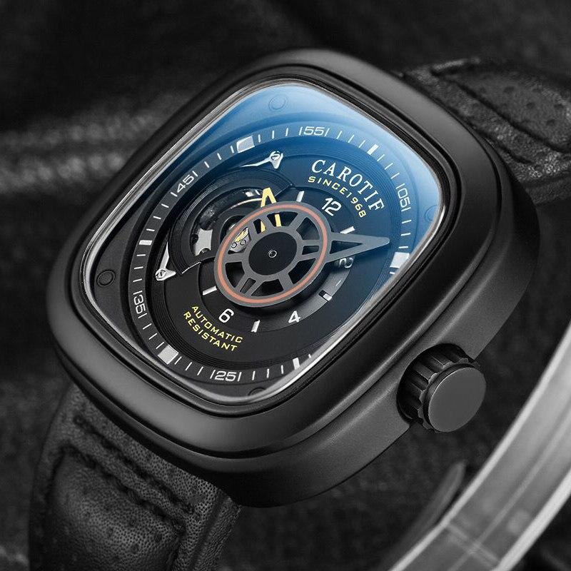 Carotif casual δερμάτινα μηχανικά ρολόγια - Ανδρικά ρολόγια - Φωτογραφία 5