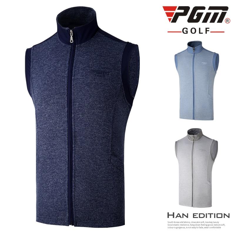 PGM New Golf apparel Men's Autumn Winter Warm golf Vest Blazer Windproof Coat Uniforms Golf Jackets Sports Jogging Riding