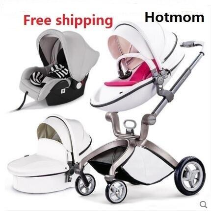 Freies Verschiffen Luxus Kinderwagen High Land-Scape Kinderwagen 3 in 1 Mode Kinderwagen Europäischen Wagen