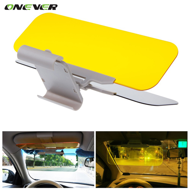 Onever 2 in 1 HD Car Sun Visor Goggles For Driver Day & Night Anti-dazzle Mirror Sun Visors Car Clear View  Dazzling Goggles