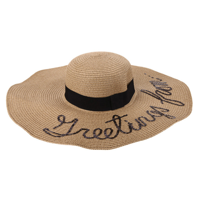 d61644b302bdb Summer Spring Women Sun Hat Ladies Wide Brim Straw Hats Outdoor Foldable  Beach Holiday Photo Panama Hats Church Casual Hats