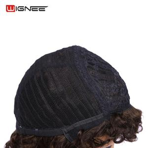 Image 4 - Wignee афро кудрявые короткие парики из человеческих волос для черных/белых женщин 150% Плотность Remy индийские волосы Glueless Jerry Curl человеческие парики