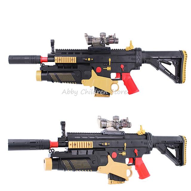 Cicatriz paintball arma bala mole arma de brinquedo elétrico rifle battlefield assalto snipe arma hero menino brinquedo adulto presente