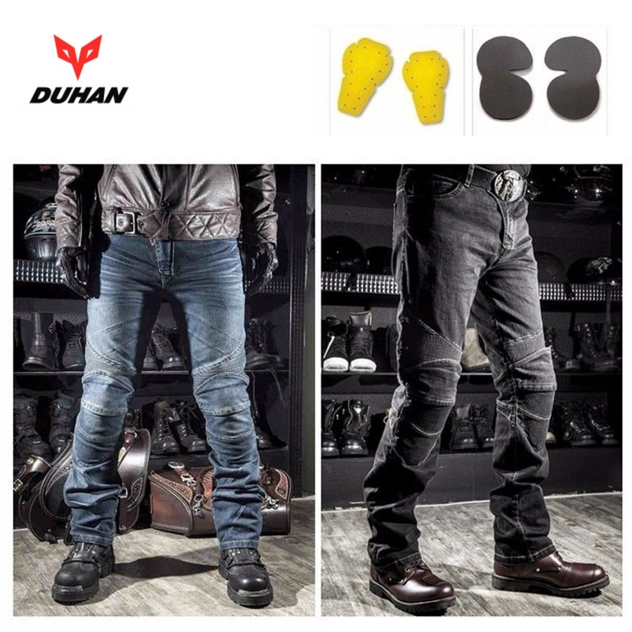 Free shipping 1pcs Motorcycle Biker Distressed Pants Denim Trousers Protection Pads airgracias elasticity jeans men high quality brand denim cotton biker jean regular fit pants trousers size 28 42 black blue