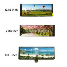6.86 אינץ רצועת מסך 7.84 אינץ אופקי מסך IPS צפייה רחבה זווית 8.0 אינץ TFT LCD מסך NTW686M40 NTW784B30 NTW800L40