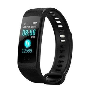 Image 2 - Smart Armbanden Sport Polsband Mens Smart Pols Klok Pedometre Horloge Hartslagmeter Voor Android 5.1 Voor IOS 8 Of boven