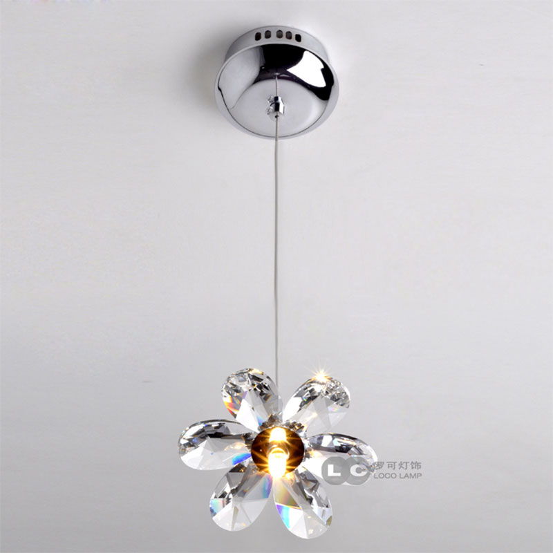 crystal flower pendant light   modern lighting living room lamp bedroom lamp aisle lighting modern crystal lamp round shape led pendant light for bedroom living room lighting