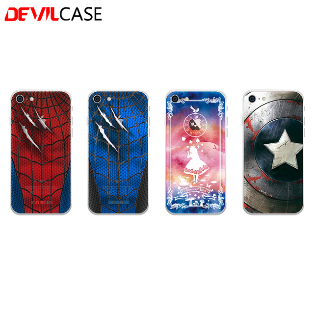 Devilcase craft drawing back sticker for iphone 7 7plus stylish customized back decal cover for iphone7